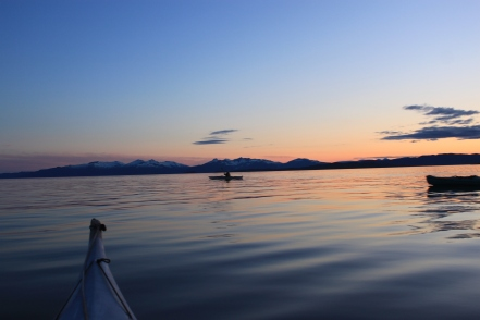 a good night for a paddle.