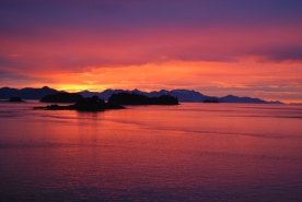 The most beautiful sunsets on earth happen at Five Finger