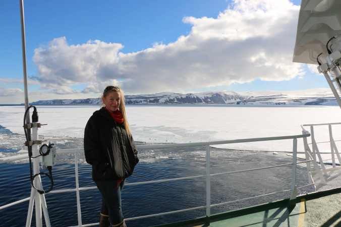 Michelle sailing through the Ross Sea en route to Jang Bogo Antarctic Base